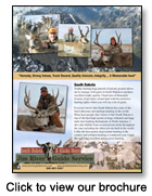 Brochure for Jim River Guide Service
